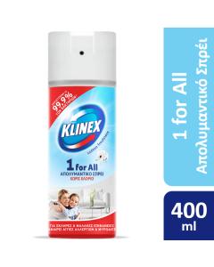 Απολυμαντικό σπρέι KLINEX 1 FOR ALL Χωρίς Χλώριο για όλες τις επιφάνειες Cotton Fresh 400ml