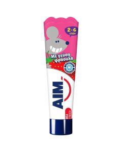 Aim 2-6 Ετών Οδοντόκρεμα Με Γευση Φραουλα 50ml