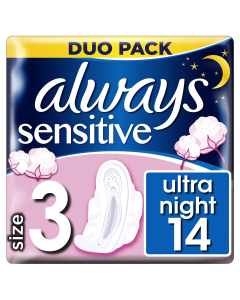 Always Ultra Sensitive Night Duo (Μέγεθος 3) Σερβιέτες Με Φτερά 14τεμ