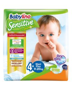 Πάνες Babylino Sensitive Carry Pack No4+ (9-20Kg) 19τεμ