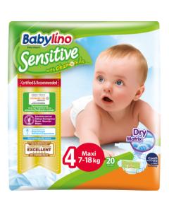 Πάνες Babylino Sensitive Carry Pack No4 (7-18Kg) 20τεμ