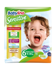 Πάνες Babylino Sensitive Carry Pack No6 (15-30Kg) 15τεμ