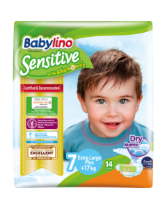 Πάνες Babylino Sensitive Carry Pack No7 (17+Kg) 14τεμ