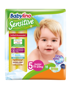 Πάνες Babylino Sensitive Carry Pack No5 (11-25Kg) 18τεμ