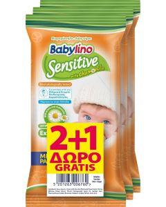 Μωρομάντηλα Babylino Mini Pack Με Απαλό Αρωμα  2+1 Δώρο (3x10τεμ)
