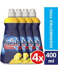 Finish Εκθαμβωτικό Υγρό Πλυντηρίου Πιάτων Λεμόνι 4x400ml