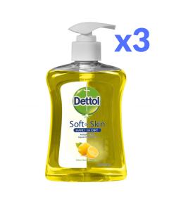 Dettol Αντιβακτηριδιακό Υγρό Κρεμοσάπουνο με Αντλία Citrus 250ml x3