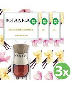 Botanica by Airwick Ηλεκτρική Συσκευή & Ανταλλακτικό Βανίλια & Μανόλια Ιμαλαϊων 19ml x3