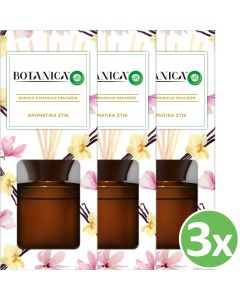 Botanica by Airwick Αρωματικά Στικ Βανίλια & Μανόλια Ιμαλαϊων 80ml x3