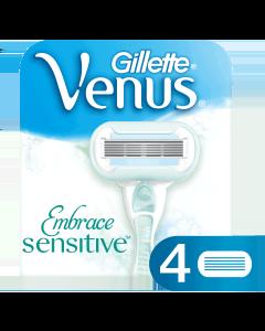 Gillette Venus Embrace Sensitive Ανταλλακτικά Ξυραφάκια (4τεμ)