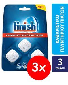 Finish Καθαριστικό Πλυντηρίου Πιάτων Ταμπλέτες 3x (3τεμ)