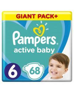 Πάνες Pampers Active Baby Giant Box Νο6 (13-18kg) 68τεμ