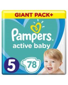 Πάνες Pampers  Active Baby Giant Pack Νο5 (11-16kg) 78τεμ