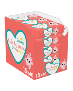 Pampers Kids Hygiene On-The-Go  Μωρομάντηλα - 15 x 40 (600 Μωρομάντηλα)