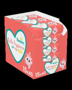 Μωρομάντηλα Pampers Kids Hygiene On-The-Go 15 x 40 (600 τμχ)