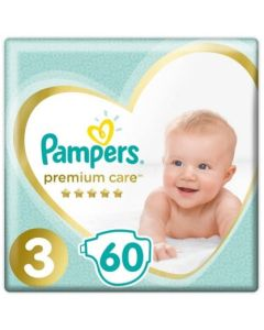 Πάνες Pampers Premium Care Jumbo Pack Νο3 (6-10kg) 60τεμ