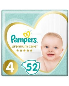 Πάνες Pampers Premium Care Jumbo Pack Νο4 (9-14kg) 52τεμ