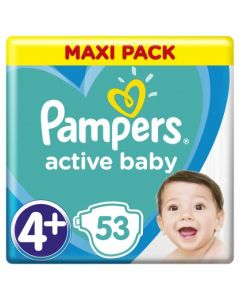 Πάνες Pampers  Active Baby Maxi Pack Νο4+ (10-15kg) 53τεμ