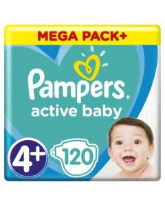 Πάνες Pampers  Active Baby Mega Pack Νο4+ (10-15kg) 120τεμ
