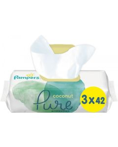 Pampers Coconut Pure Μωρομάντηλα (3x42) 126τεμ