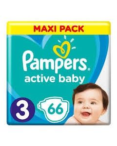 Πάνες Pampers  Active Baby Maxi Pack Νο3 (6-10kg) 66τεμ