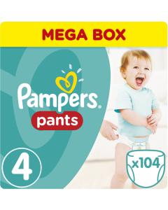 Πάνες Pampers Pants Mega Box Νο4 (9-15kg) 104τεμ