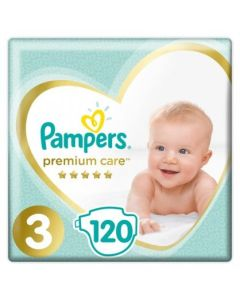 Πάνες Pampers Premium Care Mega Box Νο3 (6-10kg) 120τεμ