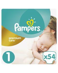 Πάνες Pampers Premium Care Newborn Νο 1 (2-5kg) 54τεμ
