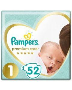 Πάνες Pampers Premium Care Newborn Value Pack Νο1 (2-5kg) 52τεμ