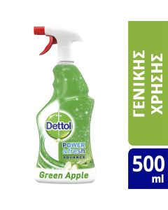 Dettol Spray Αντιβακτηριδιακό Πράσινο Μήλο 500ml
