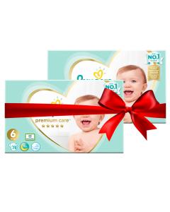 Πάνες Pampers Premium Care Mega Pack Νο 6 (13+kg) 156τεμ (2x78τεμ)