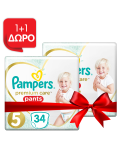 Pampers Πάνες Premium Care Pants Jumbo Pack Νo5 (12-17+kg) 34τεμ