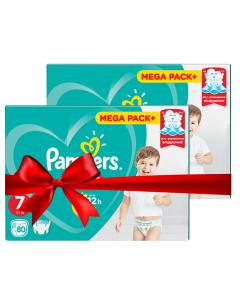 Πάνες Pampers Pants Mega Pack Νο7 (17+kg) 160τεμ (2x80τεμ)