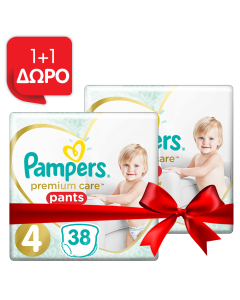 Pampers Πάνες Premium Care Pants Jumbo Pack Νo4 (9-15kg) 38τεμ