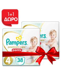 Pampers Πάνες Premium Care Pants Jumbo Pack Νo4 (9-15kg) 38τεμ