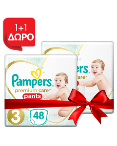 Pampers Πάνες Premium Care Pants Jumbo Pack Νo3 (6-11kg) 48τεμ