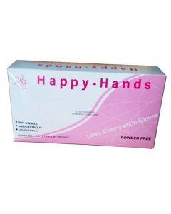 Happy Hands Γάντια μιας χρήσης Latex Χωρίς Πούδρα Large 100τεμ.