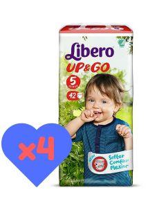 Πάνες Libero Up & Go Jumbo Pack Νο5 (10-14kg) 168τεμ