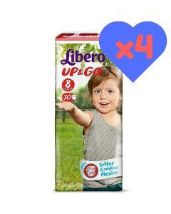 Πάνες Libero Up & Go Jumbo Pack Νο8 (19-30kg) 120τεμ