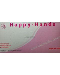 Happy Hands Γάντια μιας χρήσης Latex Χωρίς Πούδρα Medium 100τεμ.
