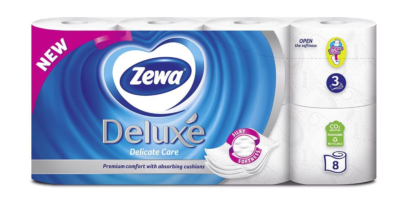 Χαρτί Υγείας Zewa Deluxe Delicate Care με άρωμα 3φυλλο 8 ρολά
