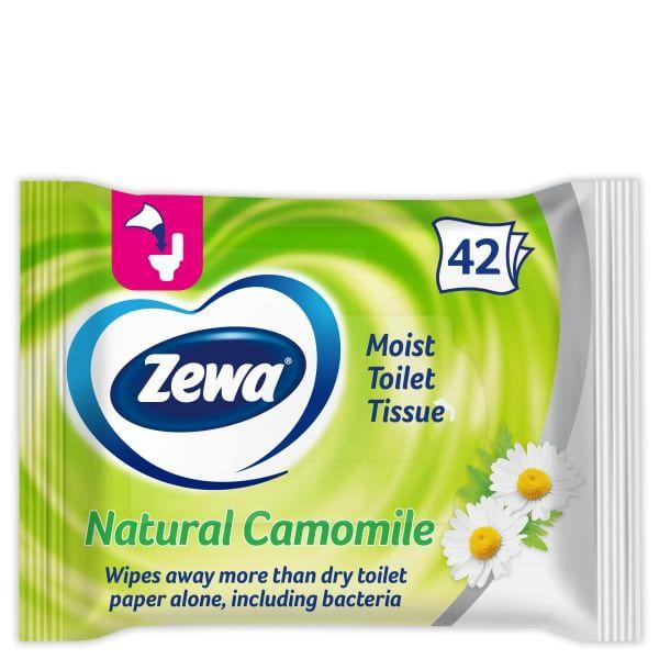 Υγρό Χαρτί Υγείας Zewa Moist Toilet Tissue με χαμομήλι 42τμχ