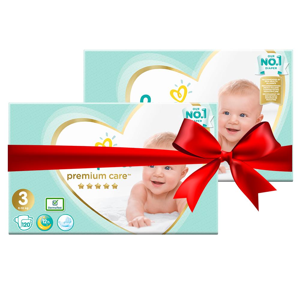 Πάνες Pampers Premium Care Mega Box Νο3 (5-9kg) 240τεμ (2 x120τεμ)