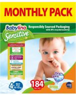 Πάνες Babylino Sensitive Monthly Pack No4+ (10-15Kg) 184τεμ.